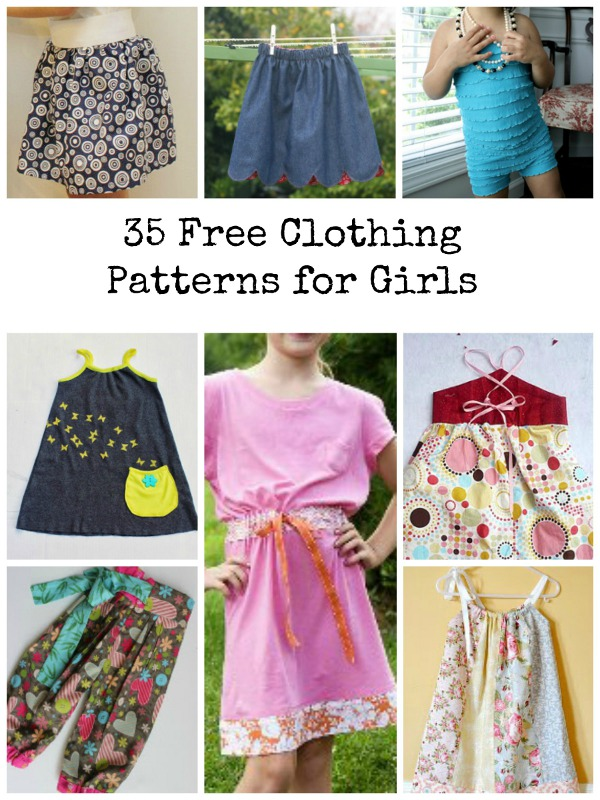 sewing free patterns projects clothing girls dress