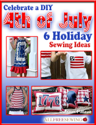 4th of july ebook cover Last Minute Fourth of July Crafts: Patriotic Holiday Sewing Patterns