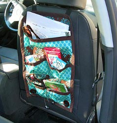 Cool Car Caddy Straps onto Head Rest