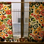 Vintage Button Curtains