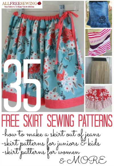 35 Free Skirt Sewing Patterns
