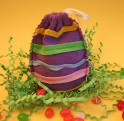Felt Easter Egg Jelly Bean Bag