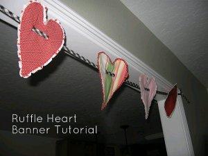 Ruffle Heart Banner