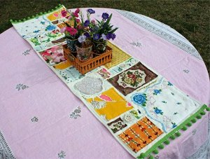 Scrap Happy Table Runner AllFreeSewing Presents Our Second Stash Buster Challenge!