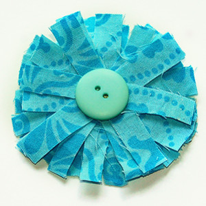 Scrappy Fabric Flower