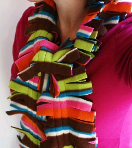 Fleece hat and scarf - Free sewing projects, free learn to sew