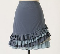 Anthropologie Ruffle Skirt