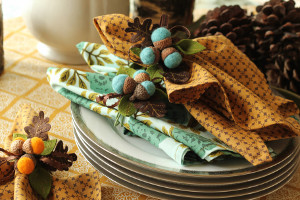 Festive Fall Thanksgiving Napkins