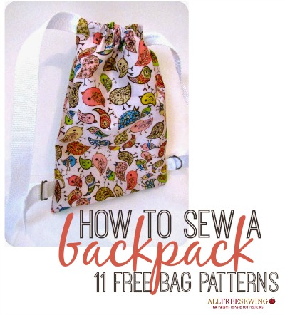 School Backpack Sewing Pattern