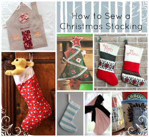 28 Christmas Sewing Projects: How to Make a Christmas Stocking + Other Great Ideas