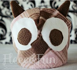 Adorable owl fleece hat sewing pattern allfreesewing com owl sewing