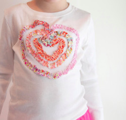 Scrapped Applique Heart Shirt