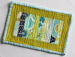 scrappy stack mug rug tutorial Sew Trendy: New Sewing Trends and Projects