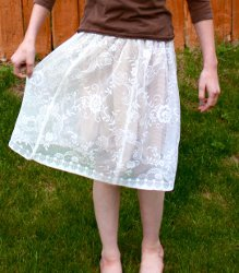 Tablecloth Lace Skirt Tutorial