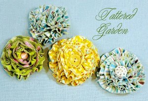 Tattered Flowers for Embellishment