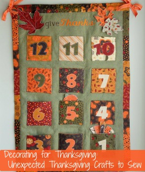 Decorating for Thanksgiving: 16 Unexpected Thanksgiving Crafts to Sew + 10 New Thanksgiving Decorating Ideas