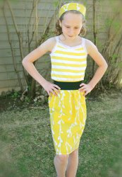 Walking On Sunshine Upcycled Dress