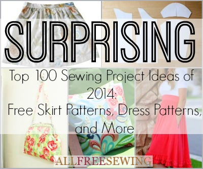Top 100 Projects on AllFreeSewing.com